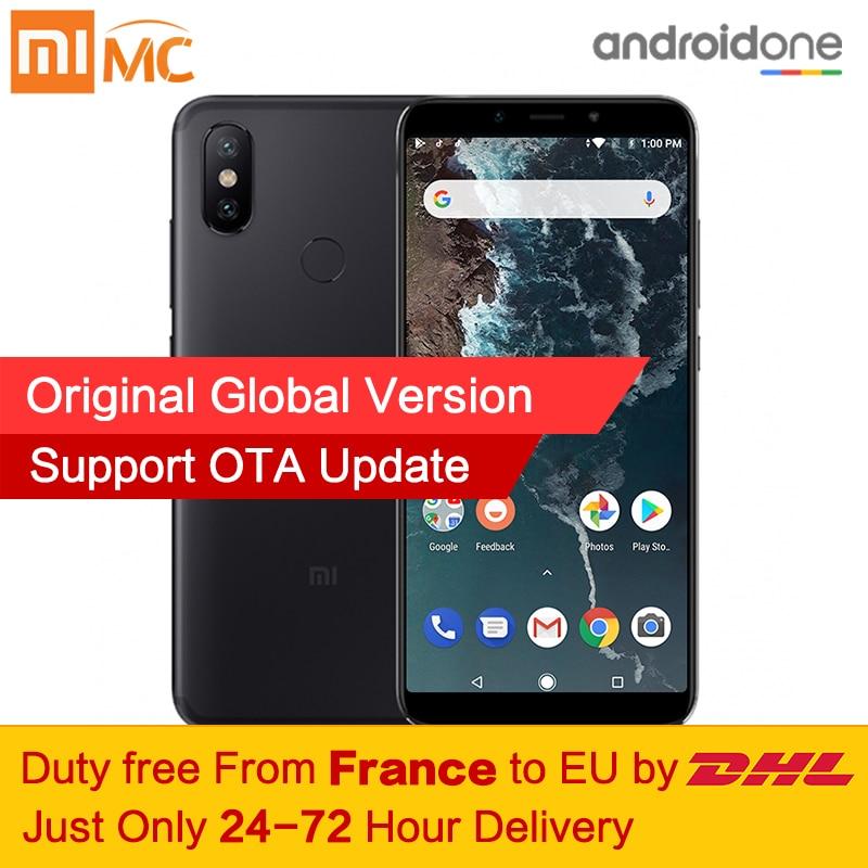 Livre de impostos! Versão Global Xiao mi mi A2 4 gb gb Smartphones Snapdragon 660 Núcleo octa 20.0MP 64 AI Câmeras Dual 5.99 18:9 Tela Cheia