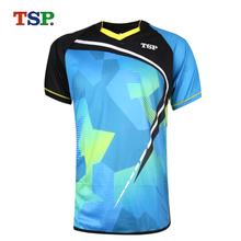 Oryginalny TSP 2018 nowe koszulki do tenisa stołowego koszulki dla mężczyzn kobiet ping pong Odzież Sportswear szkolenia koszulki tanie tanio Pasuje do rozmiaru Weź swój normalny rozmiar Unisex Short Sleeved Suit