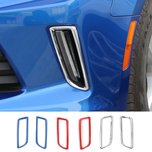 SHINEKA Newest Daytime Running Lights Lamp Cover Ring Bezel Outlet Exterior Trims ABS For Chevrolet Camaro 2016+ Free Shipping