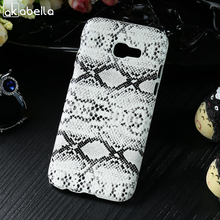 hot deal buy phone bags cases for samsung galaxy a3 2017 case cover pc+pu phone skins duos a320f/fl a320y a320 a320f a3200 snake skin pattern