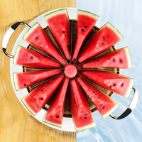 Large Size High Qualtiy 403 Stainless Steel Watermelon Slicer knife cutter Melon Slicer