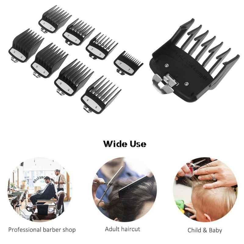 8 יח'\סט מקצועי חיתוך מדריך מסרק עבור וואהל חשמלי סתגלן עם מתכת קליפ 3171-500-1/8in כדי 1in סט