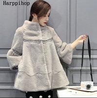 2018 зима новый Хейнинг вся кожа Рекс кролика пальто с мехом трава пальто Корейская свободная Большие размеры женские длинный отрезок