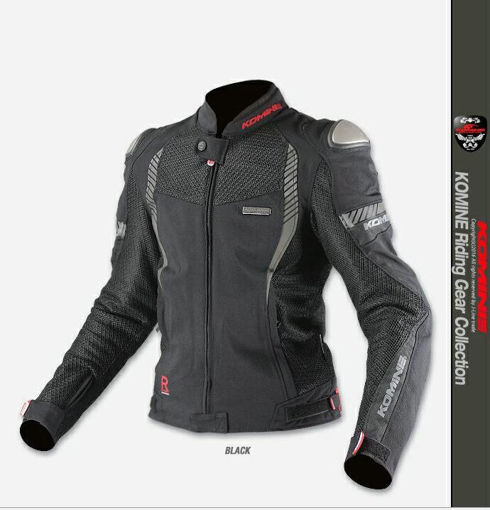 2017 nouveau KOMINE JK089 3D titane respirant maille course ride haute performance résistance à la chute vêtements moto veste