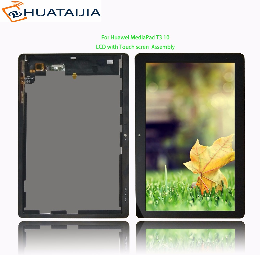 9.6 For Huawei MediaPad T3 10 AGS-L09 AGS-W09 AGS-L03 LCD Display Matrix with Touch Screen Digitizer Sensor Assembly 10 1 lcd screen for huawei mediapad 10 fhd s10 101 s10 101u s10 101w lcd display