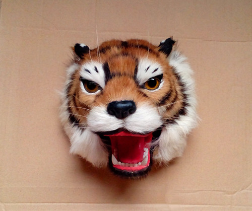 simulation cute tiger head 22x22x19cm model polyethylene&furs tiger head model home decoration props ,model gift d428 simulation cute sleeping cat 25x21cm model polyethylene