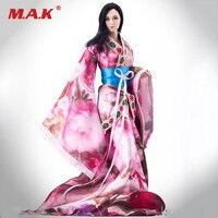 Sınırlı Stok 1/6 Anticent Çin Giysi Klasik Elbise Pembe/Mor Renk için 12 inç Kadın Aksiyon Figürleri