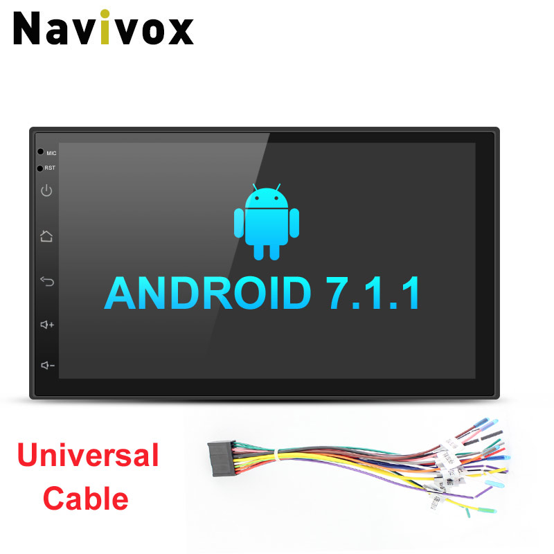 Navivox 7'' Car Stereo Multimedia Player 2 din Android 7.1.1 Quad Core Universal GPS Radio GPS Audio Player for nissan no dvd