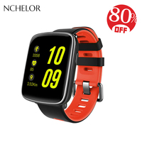 TOP sport watch IP68 waterproof fitness watch for men luxury Heart rate Bluetooth Two color silicone strap digital smart watch
