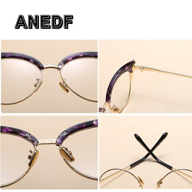 f3dbb0e044d ANEDF Classic Crystal Decoration Women Cat Eye Eyeglasses Frames Fashion  Ladies Clear Lens Glasses Frame