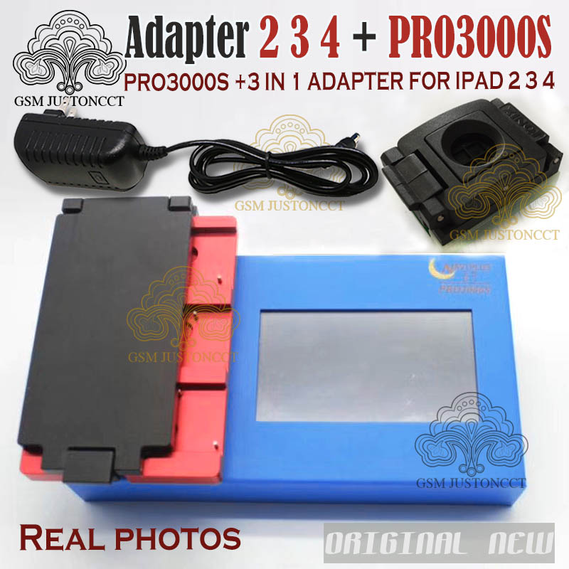 Non-removal ( for ipad 2 3 4 ) 3 in 1 adapter for nand flash IC chip naviplus pro3000s programmer re-write SN number ipad repair