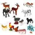 15 pcs/pack Plastic Farm Animal Tree Model Set Kids Toy Multi-color