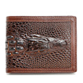 Hot Sale Fashion High Quality Leather 3D Crocodile Mens Wallet Alligator Embossed Emboss Short Coin Purse Card & ID Holder