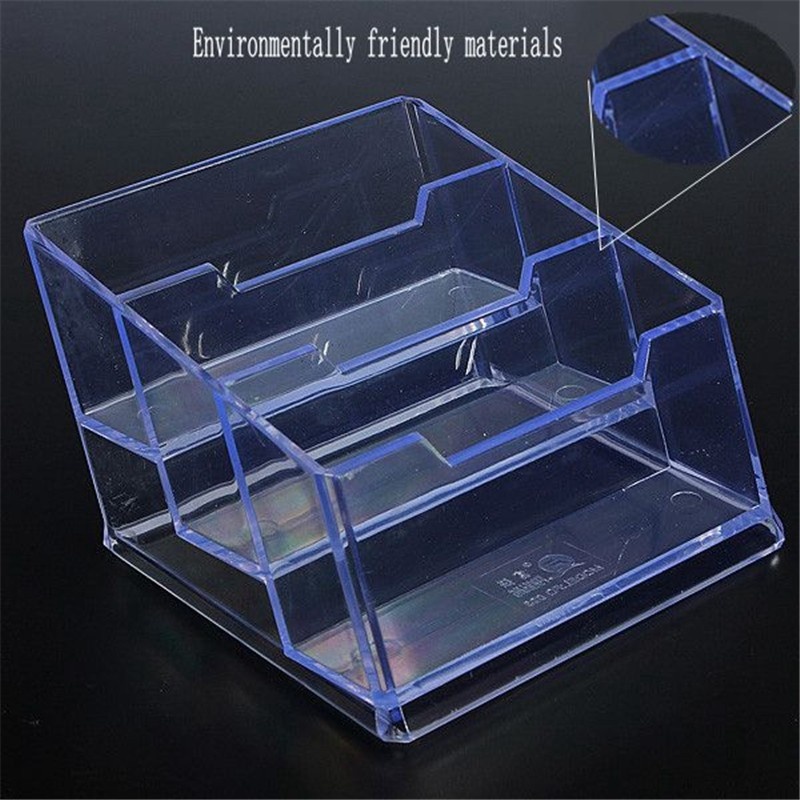 3 szie transparent clear the cards case plastic business card holder design for easy placement in storage boxes bins from home garden on aliexpresscom - Plastic Business Card Holders