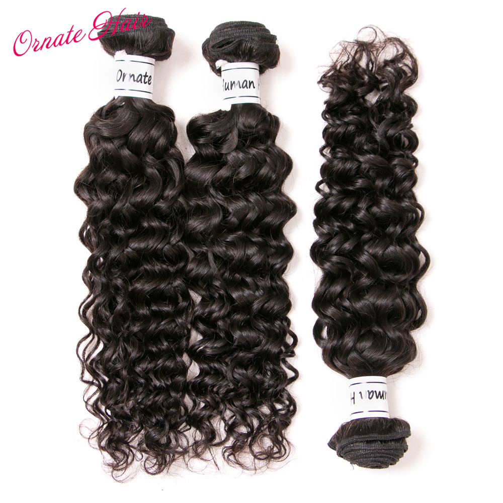 Ornate Brazilian Hair Water Wave Bundles 12-24 Inch Human Hair Weave 3 Bundles Deal Natural Color Free Shipping