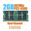Brand New Sealed DDR2 667 Mhz 2 GB PC2-5300 SODIMM RAM de memoria para el Ordenador Portátil, buena calidad! compatible con toda la placa madre!