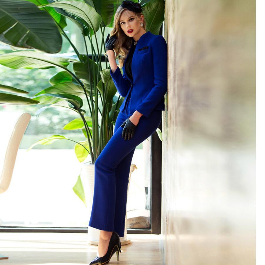 Women Pant Suits High-end Women Suit OL Suits Wool Blended Formal Business Custom Women Suit Twinset Jacket + Pants Custom
