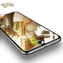KISSCASE Tempered Protective Glass For iPhone 6 6s 7 Plus Screen Protector For iPhone X XS 7 6s 6 Plus 5 Color Mirror Film Case