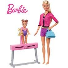 цена на Barbie Originals Gymnastics Coach Girl Princes Doll American Girl Dolls Boneca Brinquedos  For Birthday Gift Toys Juguetes DKJ21