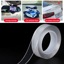 2 мм Толстая Двусторонняя лента нано прозрачная без следа акриловая волшебная лента повторное использование водонепроницаемая клейкая лента для улучшения дома для EA