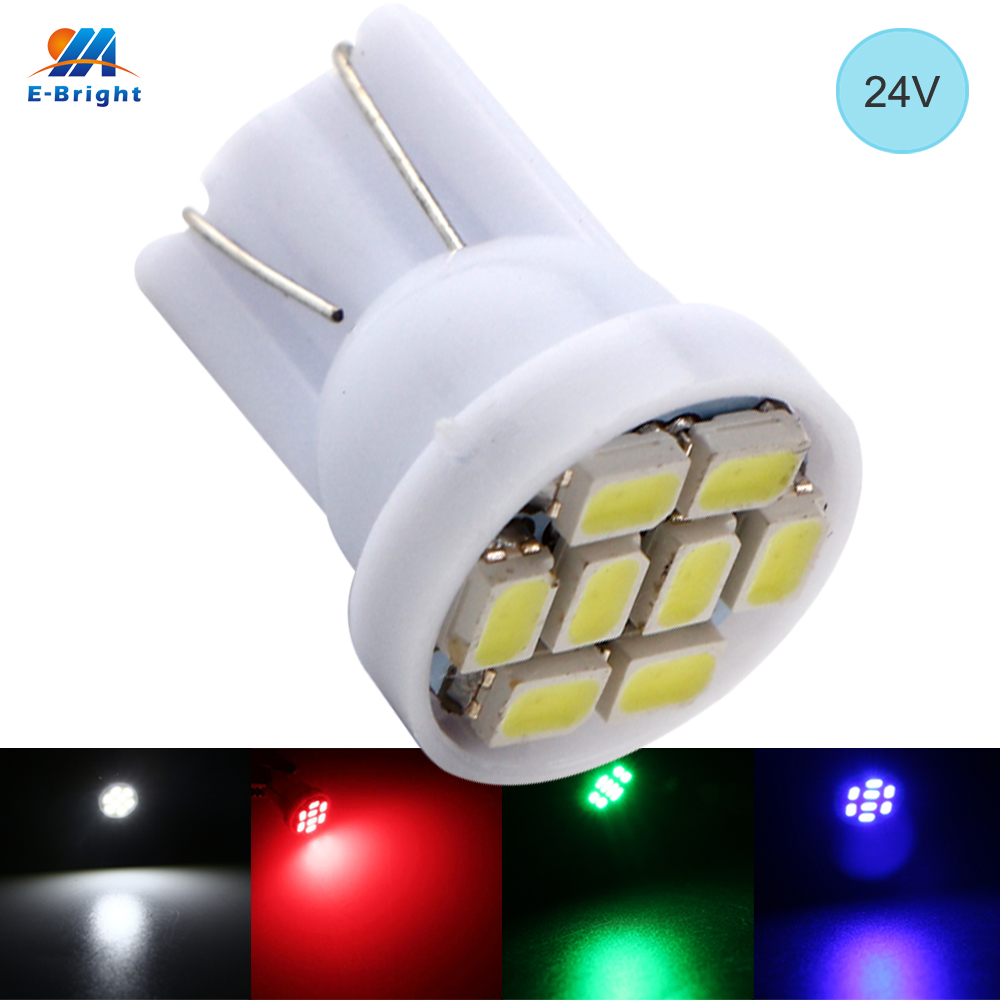 YM E-Bright 1000 PCS <font><b>T10</b></font> 194 168 W5W 24V 1206 8 SMD <font><b>LED</b></font> Light <font><b>Bulb</b></font> License Plate Lights Indicator Reading Lamps <font><b>Car</b></font> Styling image