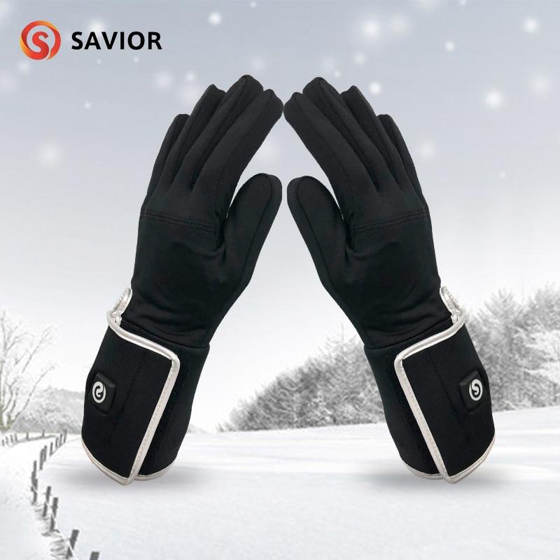 SAVIOR S-05 Outdoor zimní elektrické topné rukavice liner lyžařská cyklistika jízda na koni lov tenká vyhřívaná rukavice podšívka muži a ženy