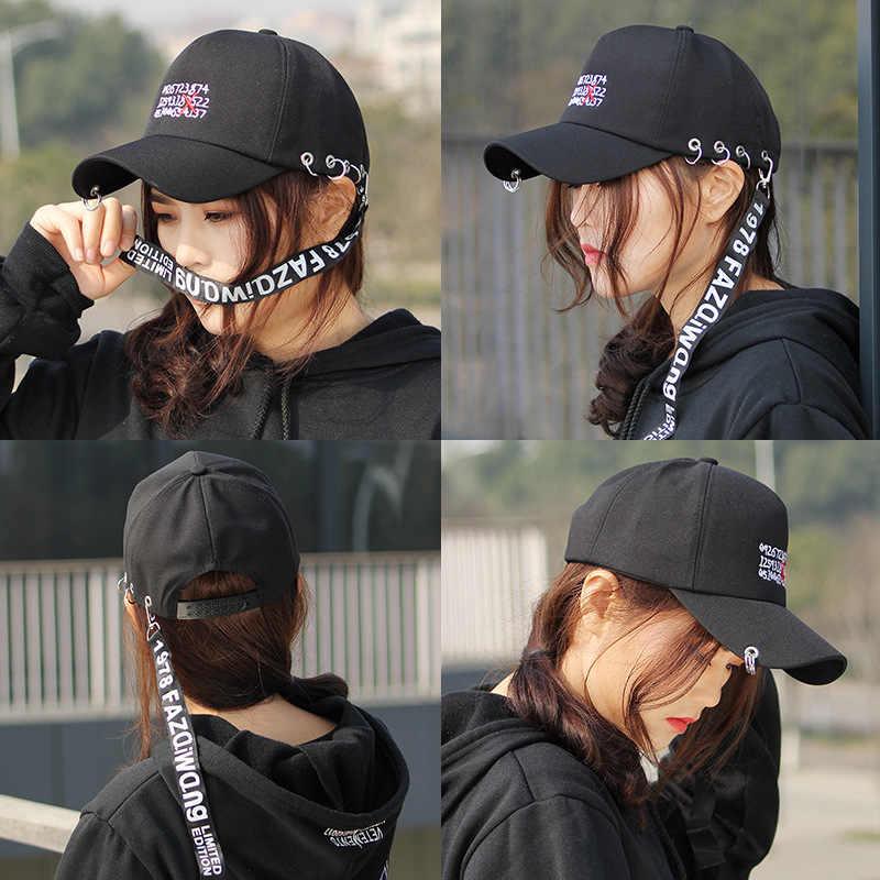 bb8f738ed55a5 ... Korean Style Fashion Novelty letter Caps For Men Women Casquette 2018  Ulzzang Harajuku Ribbon Baseball Cap ...