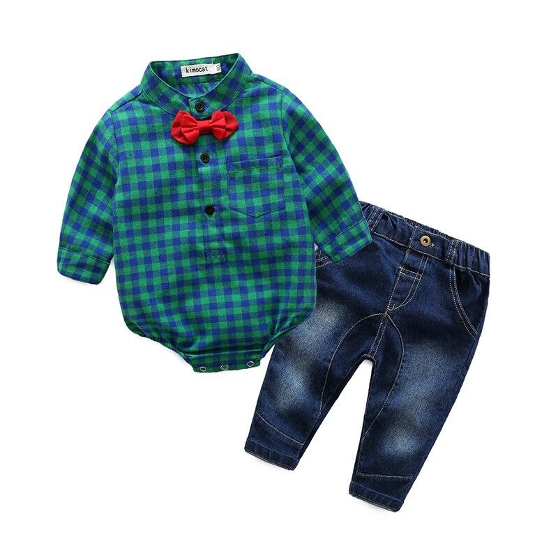 2016 jesień baby boy girl clothes Bluzy z długim rękawem koszule + - Odzież dla niemowląt - Zdjęcie 5