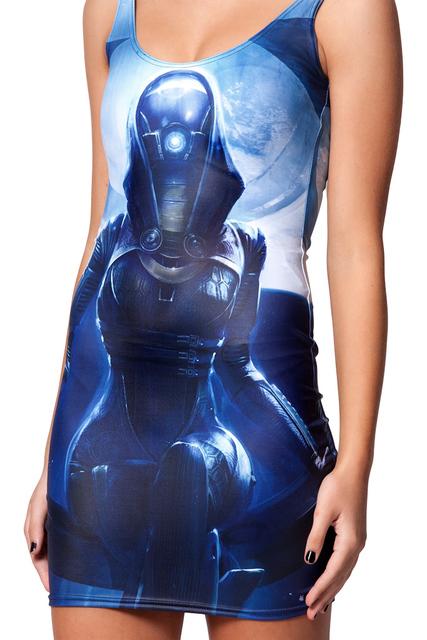 Star Wars Galaxies Tight Dress 3D Print
