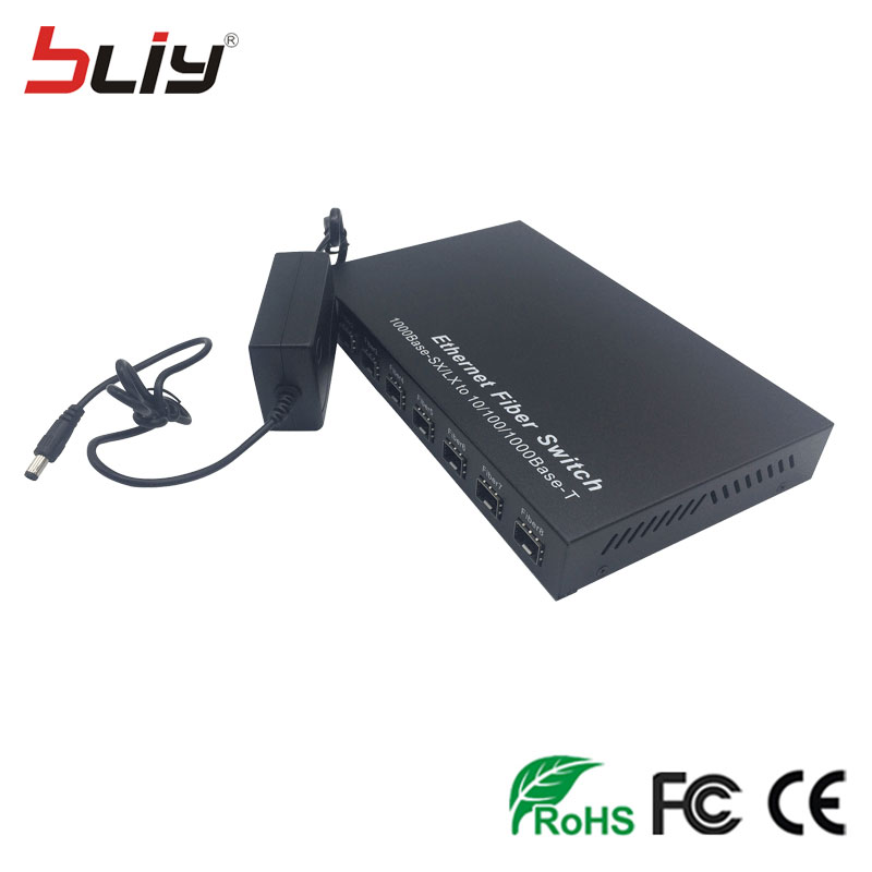 Image 3 - SFP 8G2E 1000M gigabit 8 sfp fiber 2 RJ45 UTP fiber interruptor fiber optic media converter ethernet fiber switcher for GBIC SFP-in Network Switches from Computer & Office