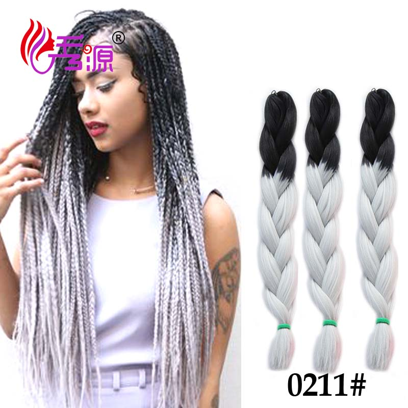 24 60 cm jumbo tresses cheveux extension 100g noir ombre argent gris jumbo cheveux tresse afro - Couleur bordeau en anglais ...