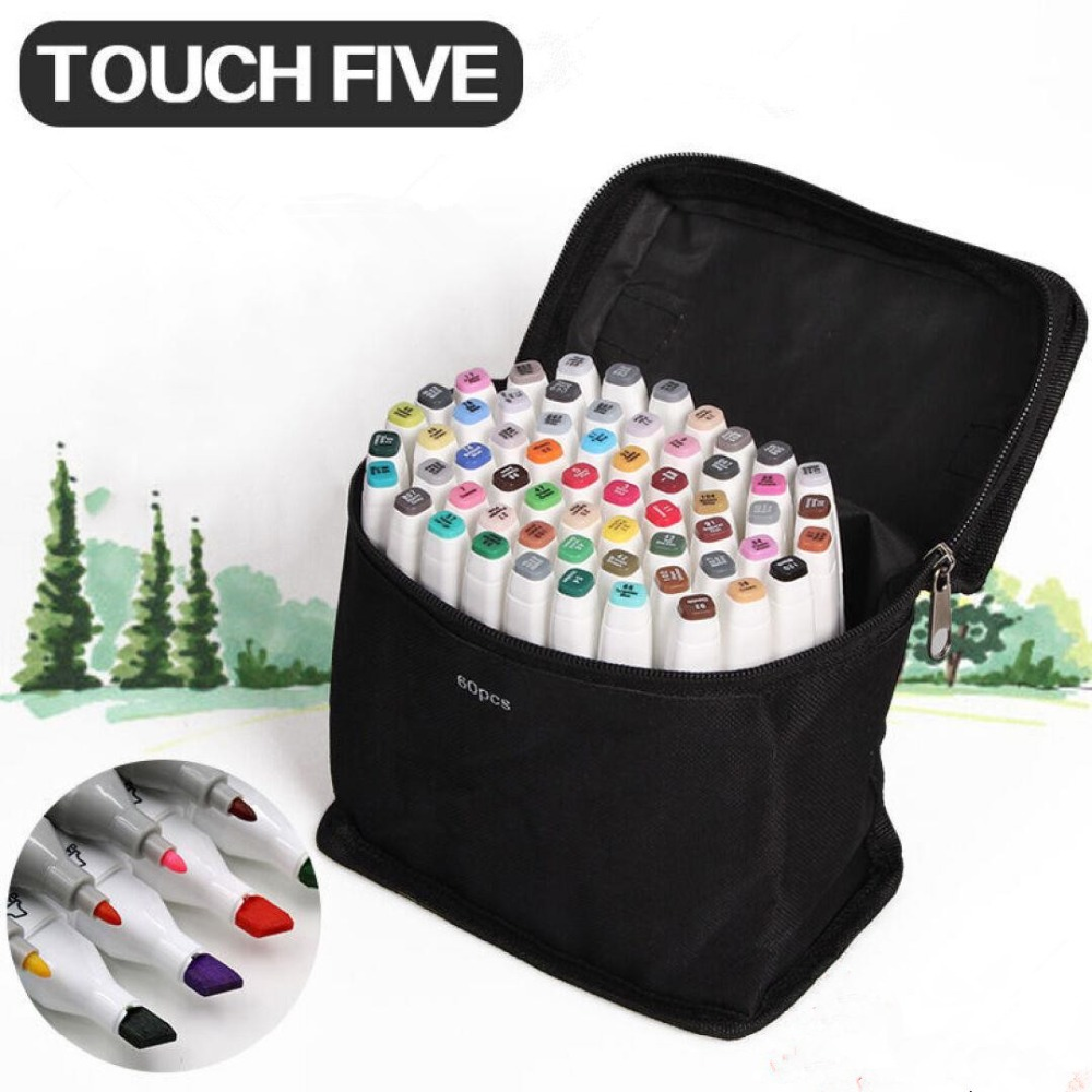 30/40/60/80/168 Colors Art Marker Set Oily Alcoholic Dual Headed Artist Sketch Markers Pen For Animation Manga Design touchnew 80 colors artist dual headed marker set animation manga design school drawing sketch marker pen black body