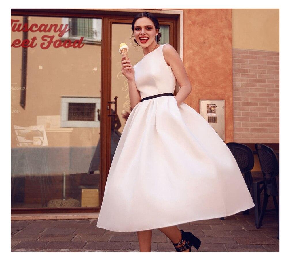 Short Wedding Dress 2019 Beach White Dresses Backless Vestido De Noiva Hot Sale Vestido De Novia Playa Wvening Party To Ensure A Like-New Appearance Indefinably