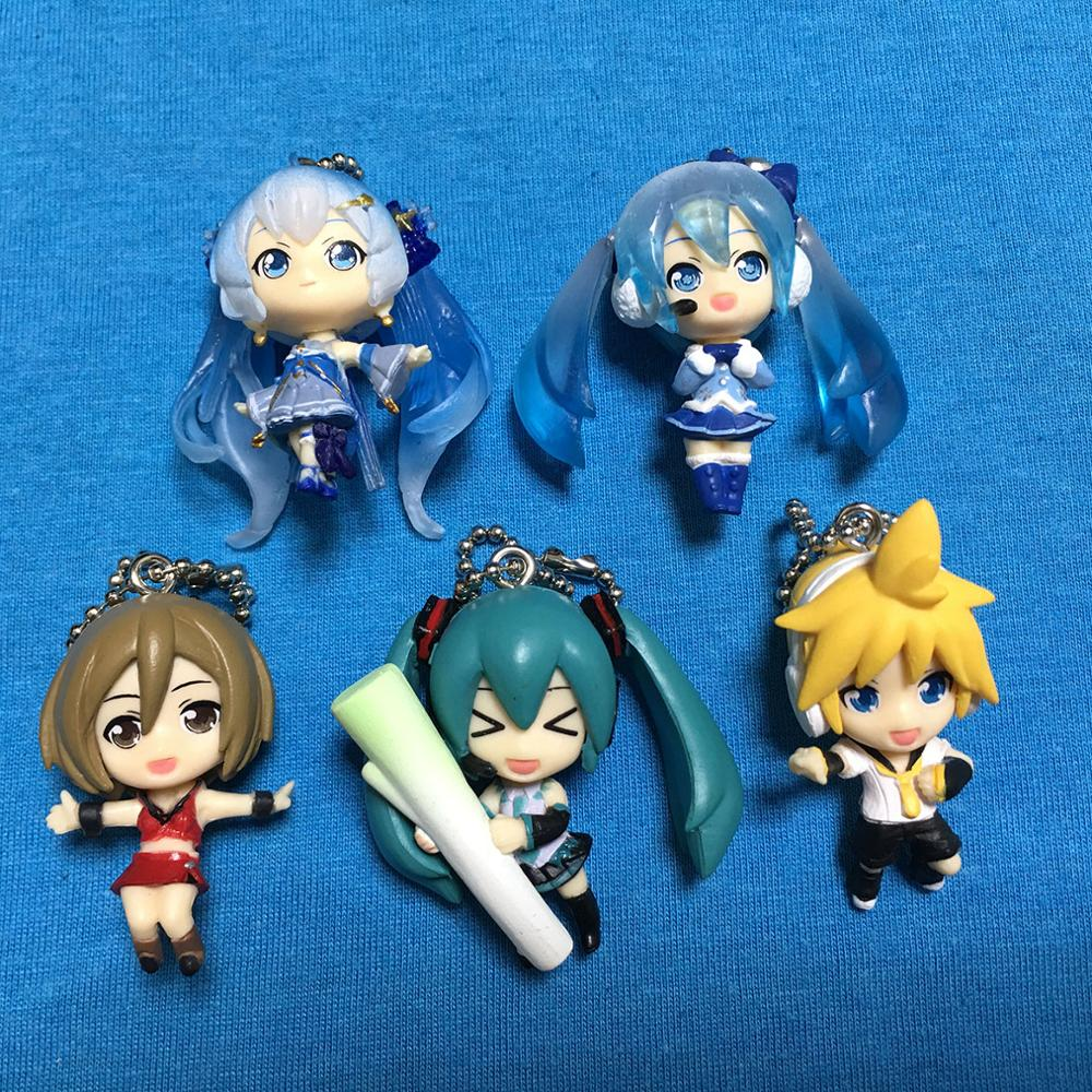 2019 New Arrival Hatsune Miku Original Japanese Anime Figure PVC Mobile Phone Charms Keychain Strap Pendant