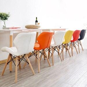 Image 3 - Silla nórdica INS para restaurante, comedor, moderna, de hierro, de madera, cocina, comedor, sofá