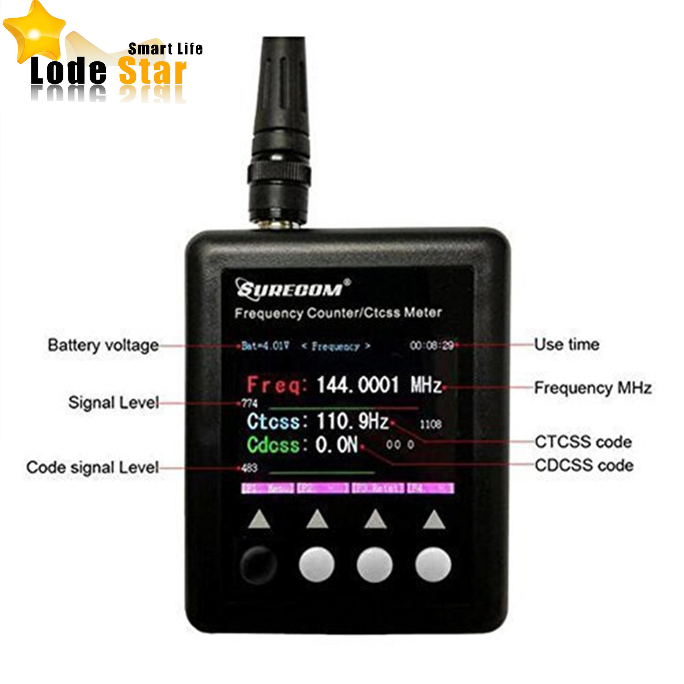 imágenes para Nueva SURECOM SF401 plus Radio del Contador de Frecuencia medidor de Frecuencia 27 Mhz-3000 Mhz medidor de Frecuencia Portátil SF-401 CTCCSS/DCS Decodificador