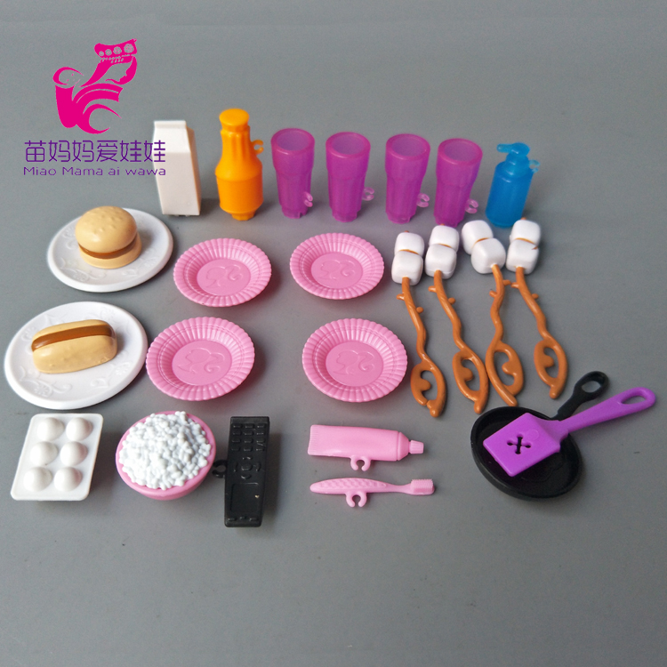 Kitchen Tableware Doll Accessories food cup For Barbie Dolls Toys Girls Baby Play doll House Toys