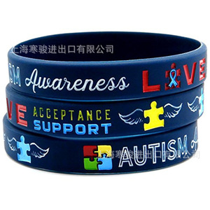1 PCS Medical alert Autism Awareness silicone rubber bracelet wristband shipping 2019(China)