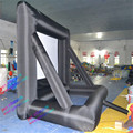 2.94 * 1.65m  16:9  inflatable lycra  front rear projection movie screen