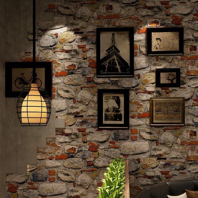 Chinesischen Stil 3D Stein Tapete Wohnzimmer Restaurant Wasserdichte ...