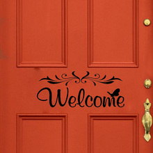 New 3D wall pasting decoration personality welcome door in childrens room wallpaper on the of home