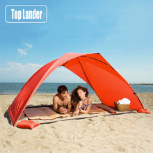 Lightweight Portable Sun Shelter Beach Tent Summer Outdoor Garden Sun Awning Sun Shade Canopy Easy Setup Camping Fishing Hiking