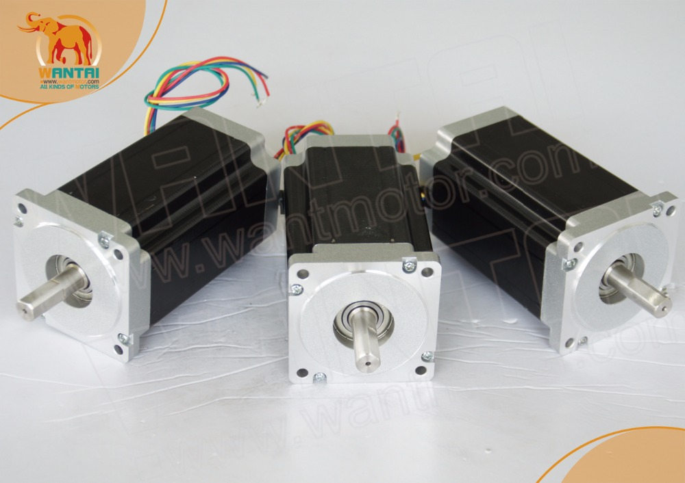 EU ship-no tax-no damage-3PCS Wantai  Stepper Motor Nema34 ,85BYGH450D-008,1090oz-in,5.6A EU ship-no tax-no damage-3PCS Wantai  Stepper Motor Nema34 ,85BYGH450D-008,1090oz-in,5.6A