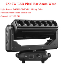 цена на New Moving Head 7X40W 4IN1 LED Pixel Bar Zoom Wash Light Equipment For Professional DJ Disco Party Lights Stage Effect Show