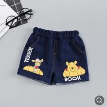 купить Kids Jeans Pants 2019 Summer New Children's Knitted Denim Shorts Soft Cartoon Printed Baby Boys Girls Shorts for 0-4Y SY-F192103 по цене 275.5 рублей
