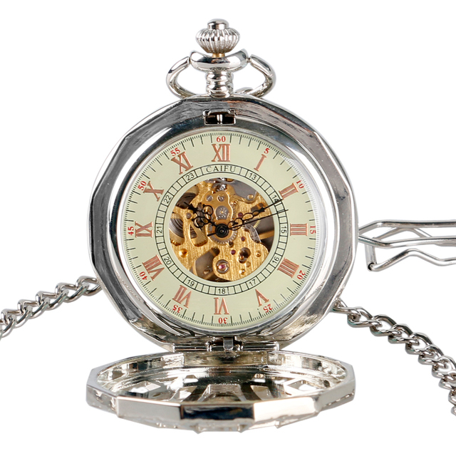 Game of Thrones Silver Skeleton House Mechanical Pocket Watch Jewelry