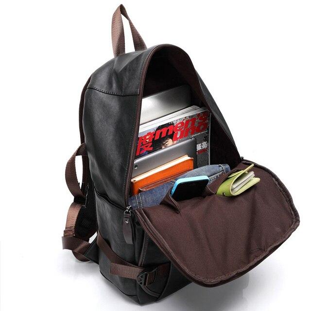 MAGIC UNION Men Oil Wax Leather Backpack Men's Casual Backpack & Travel Bags Western College Style Man Backpacks Mochila Zip Men 2