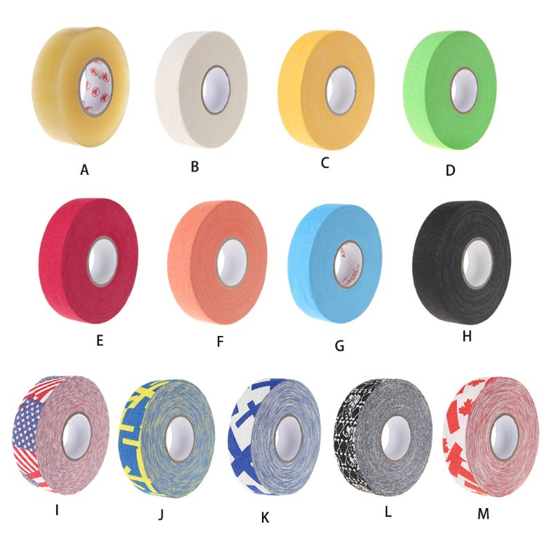 2.5cm X 25m Cloth Hockey Tape Sport Safety Football Volleyball Basketball Knee Pads Hockey Stick Tape Elbow Golf Tape Protector