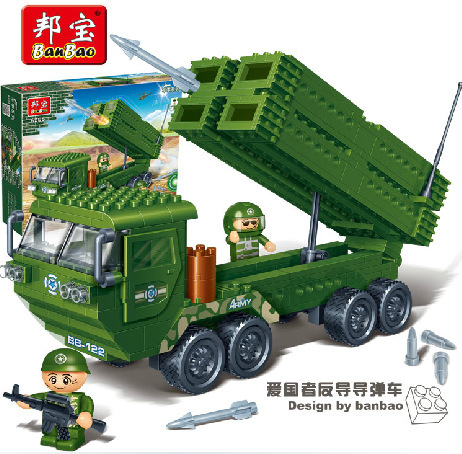 Banbao mannequin constructing kits suitable with lego metropolis military 688 3D blocks Instructional mannequin & constructing toys hobbies for kids
