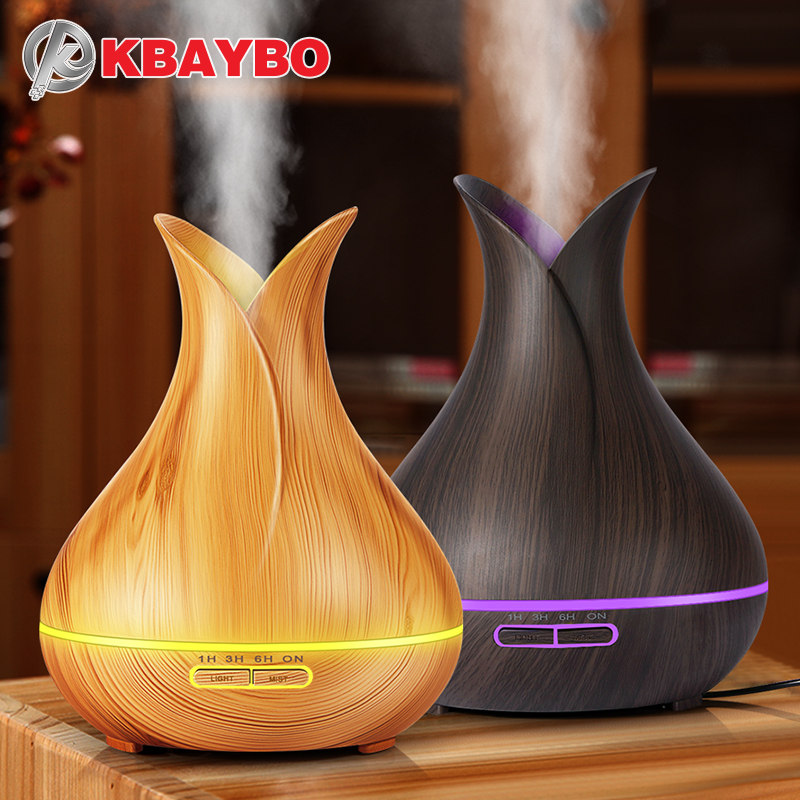 KBAYBO 400ml Air Humidifier Essential Oil Diffuser wood grain Aromatherapy diffusers Aroma Mist Maker 24v led light for Home easehold 300ml air humidifier essential oil diffuser wood grain aromatherapy diffusers aroma mist maker 24v led light for home